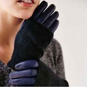 Urban Outfitters Leather Wool Gloves NWT